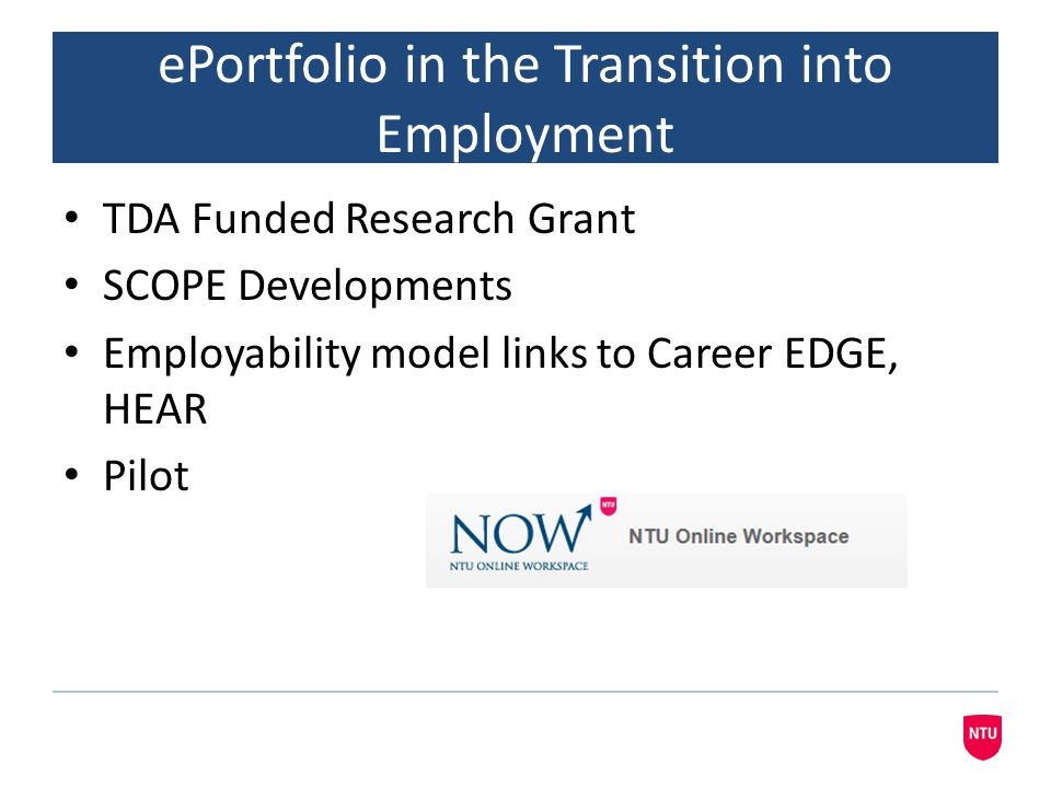 ePortfolio in the Transition into Employment