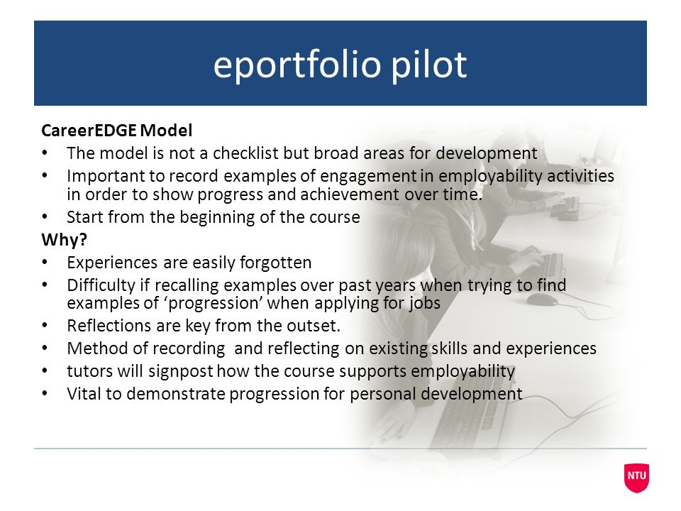 eportfolio pilot CareerEDGE Model