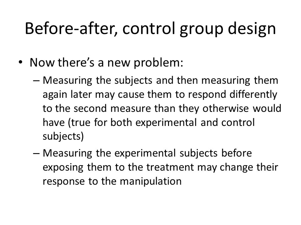 Before-after, control group design
