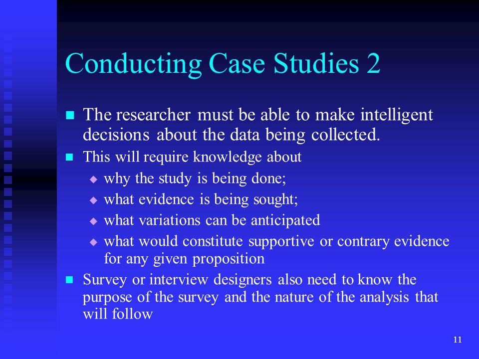 Conducting Case Studies 2