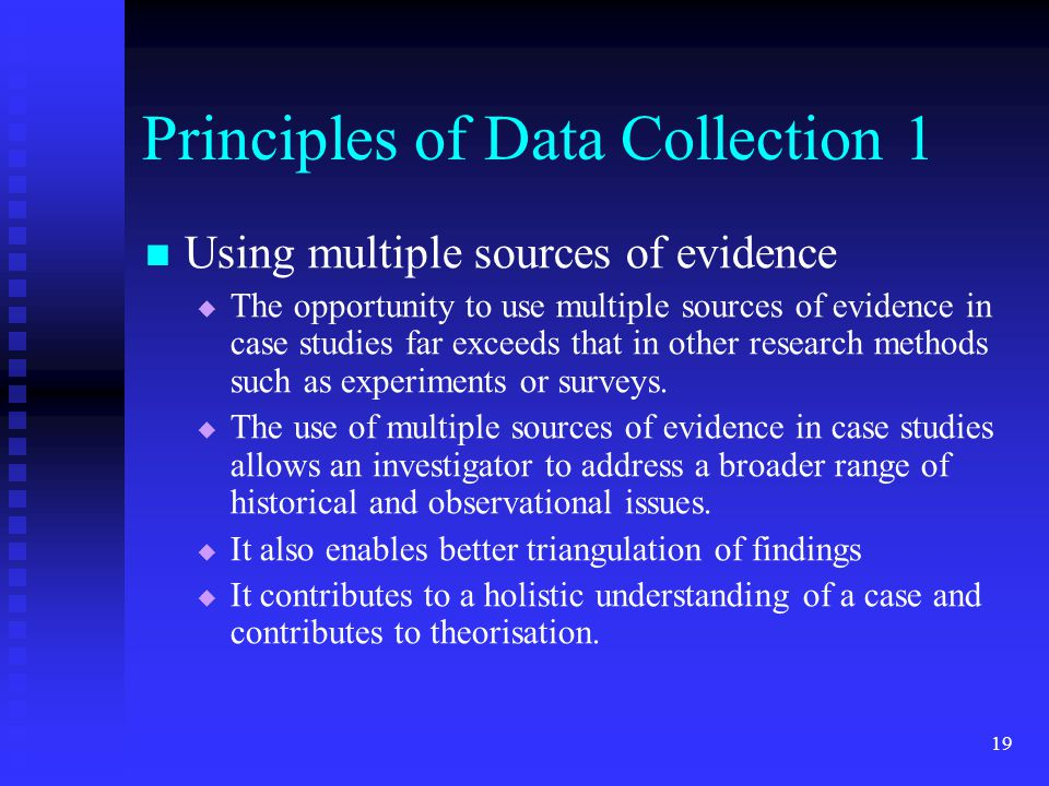Principles of Data Collection 1