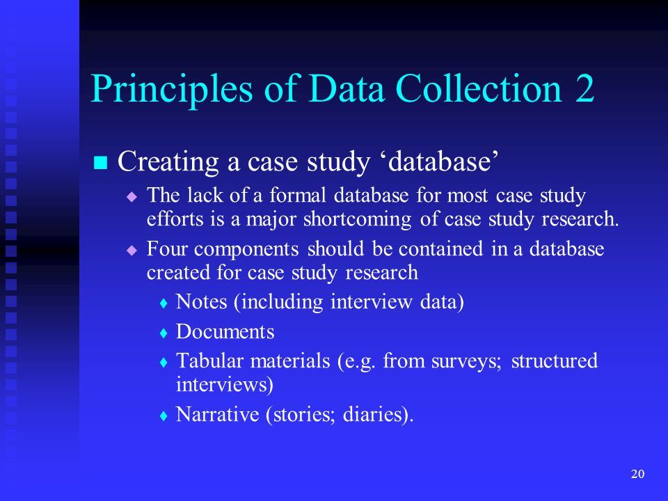 Principles Of Data Acquisition Experiment : Is seminar the case study ppt download