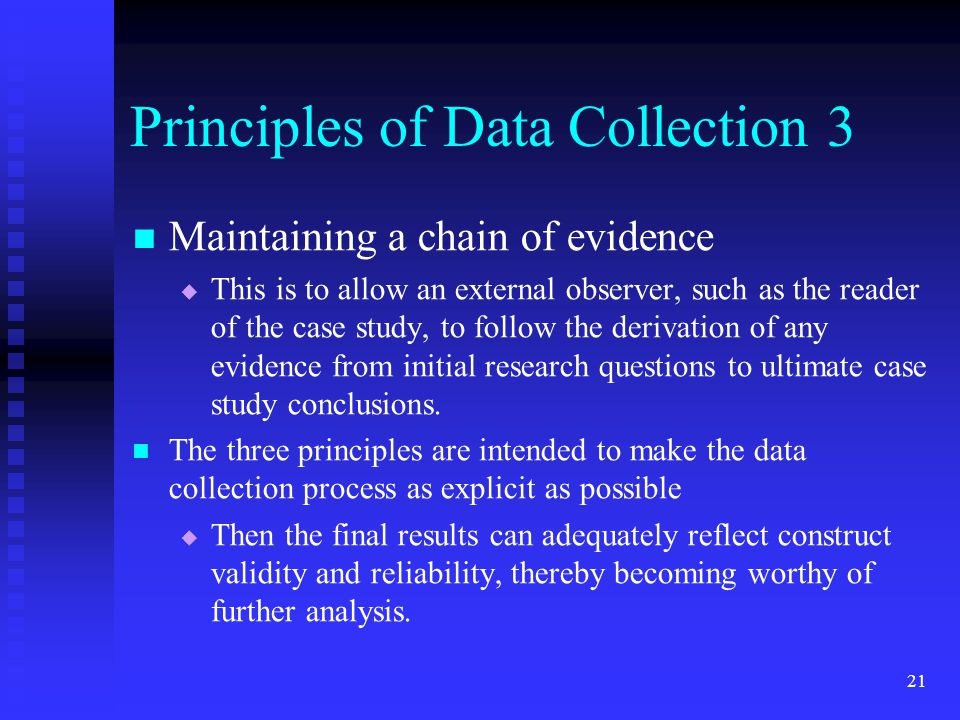 Principles of Data Collection 3