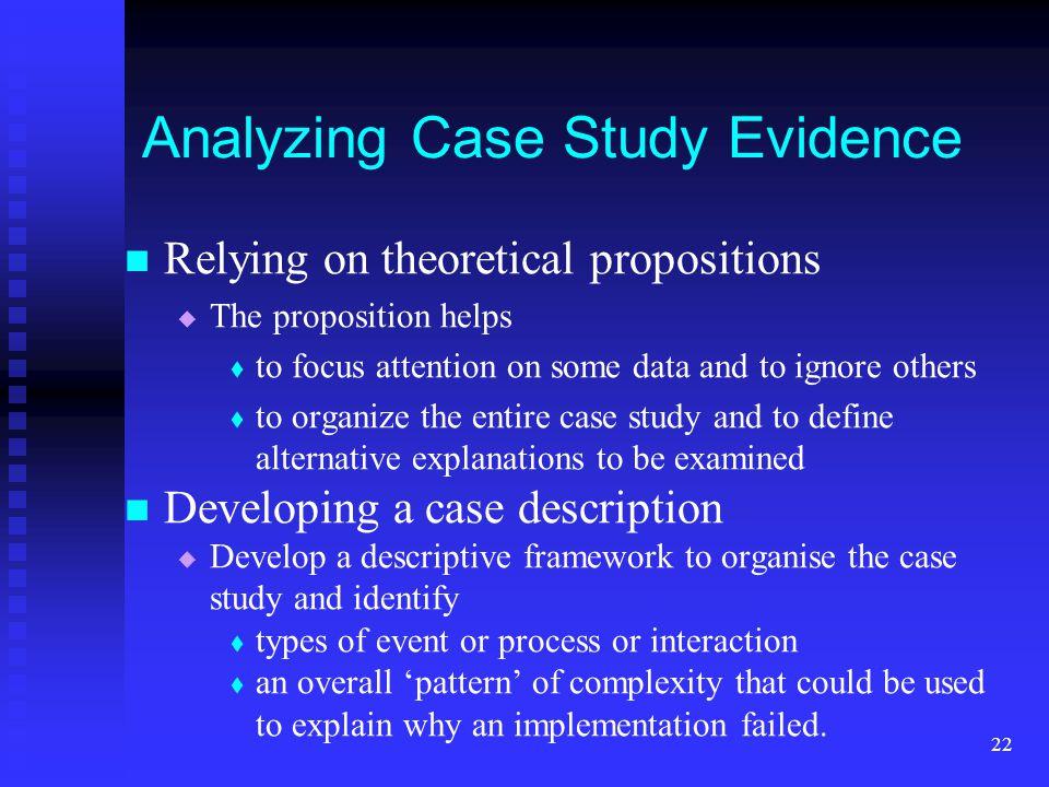 Analyzing Case Study Evidence