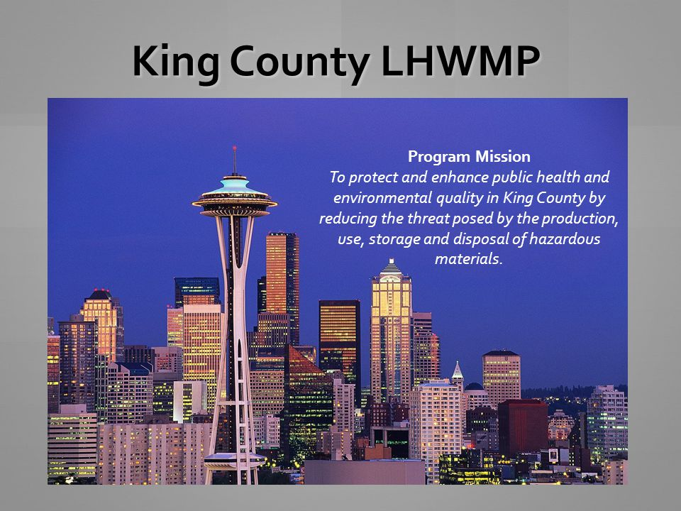 King County LHWMP Program Mission