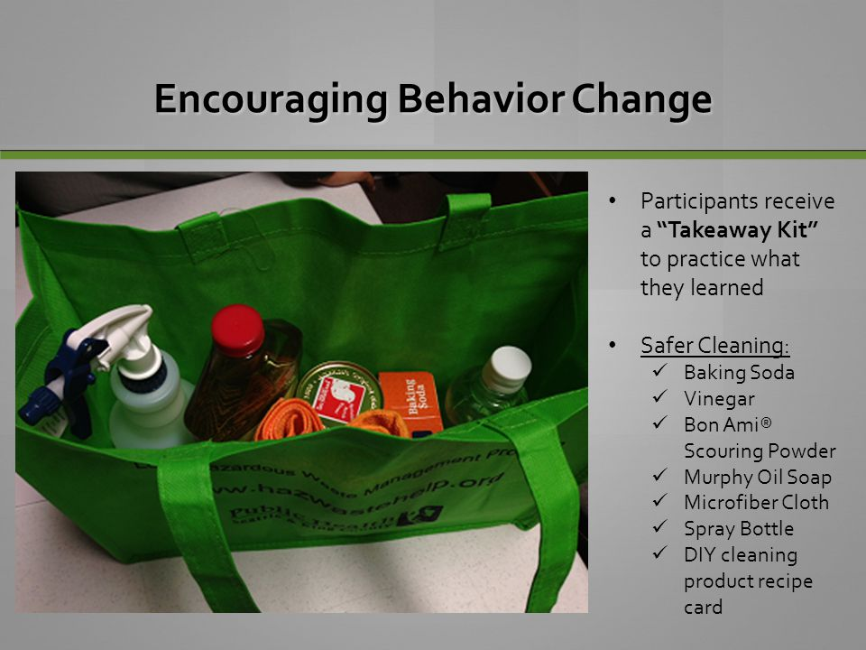 Encouraging Behavior Change