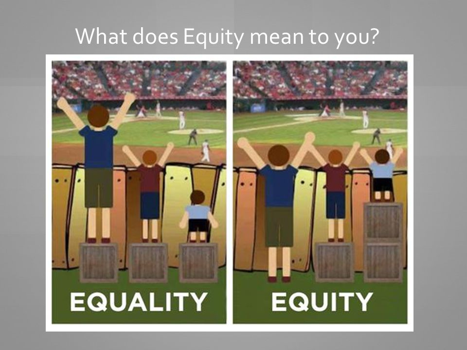 What does Equity mean to you