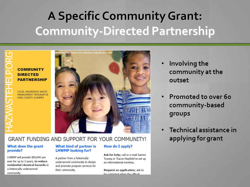 A Specific Community Grant: Community-Directed Partnership