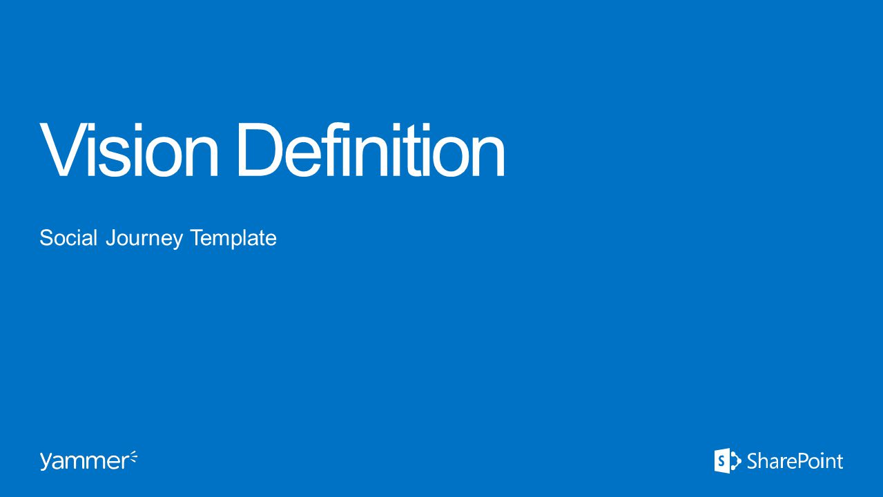 Vision Definition Social Journey Template