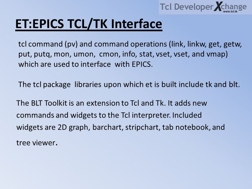 ET:EPICS TCL/TK Interface