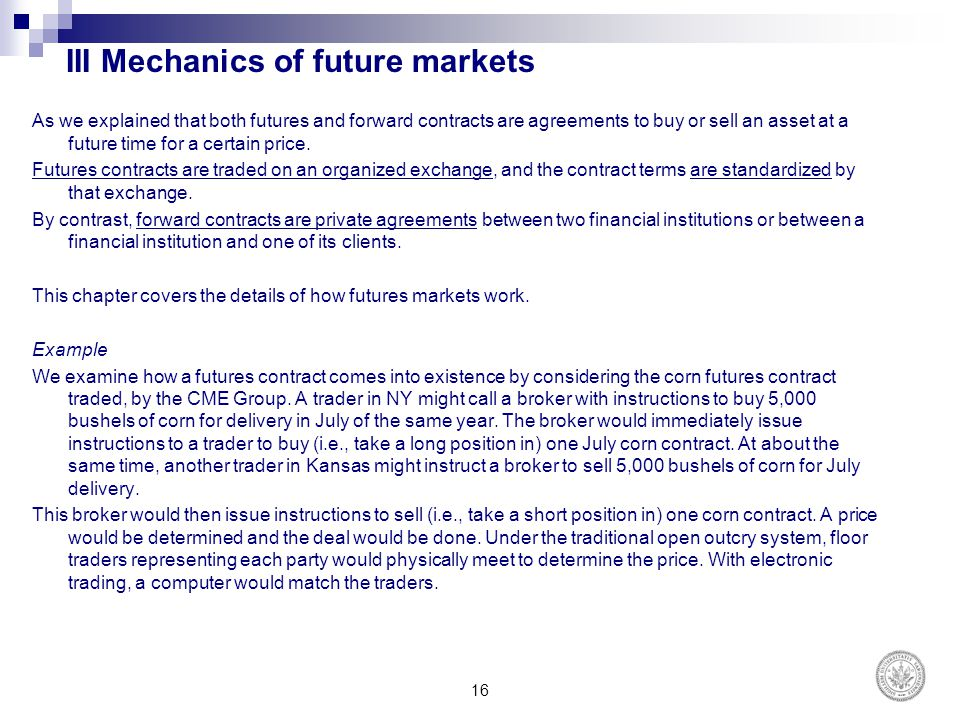 chapter 2 mechanics of futures markets Foreign exchange quotes futures exchange rates are quoted as the number of usd per unit of the foreign currency forward exchange rates are quoted in the same way as spot exchange rates.
