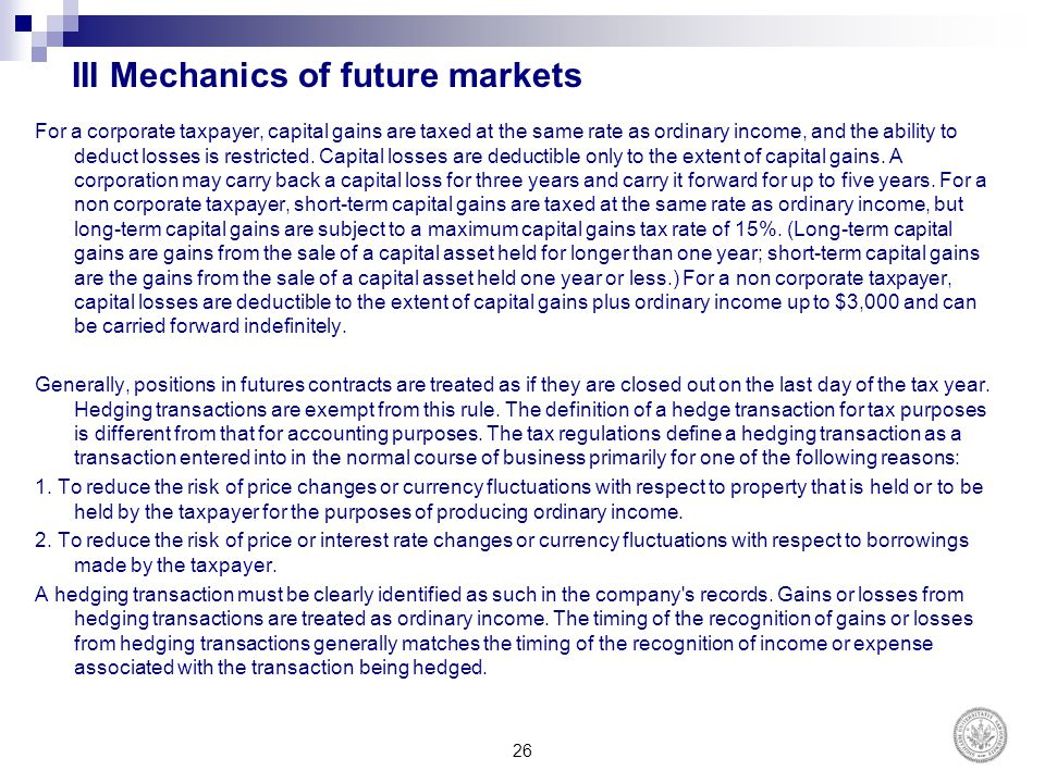 III Mechanics of future markets