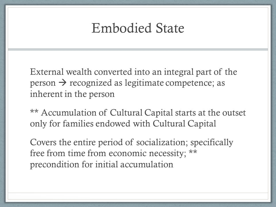 Embodied State
