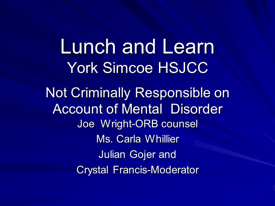 Lunch and Learn York Simcoe HSJCC