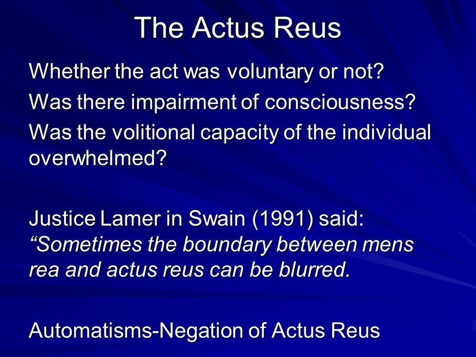 The Actus Reus