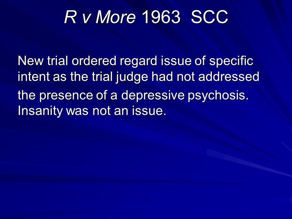 R v More 1963 SCC