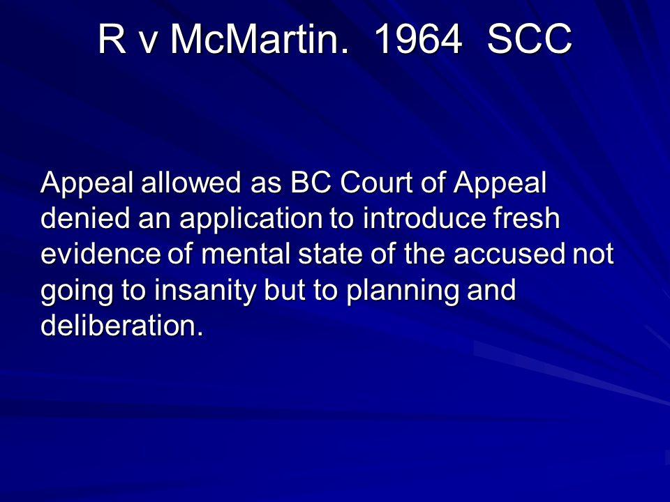 R v McMartin. 1964 SCC