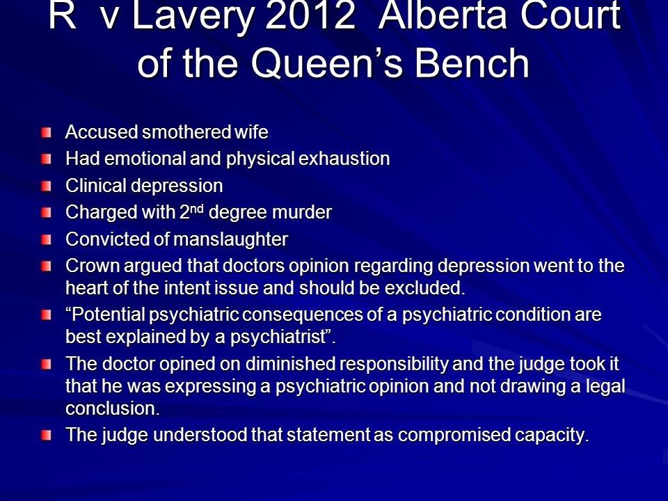 R v Lavery 2012 Alberta Court of the Queen's Bench