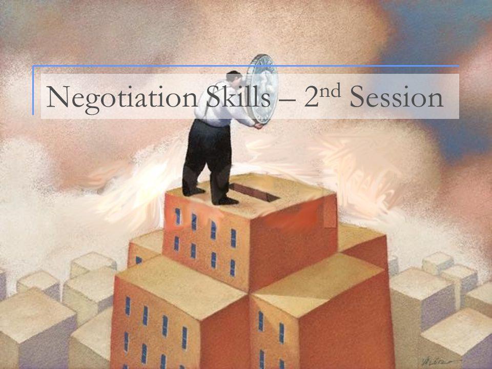 Negotiation Skills – 2nd Session