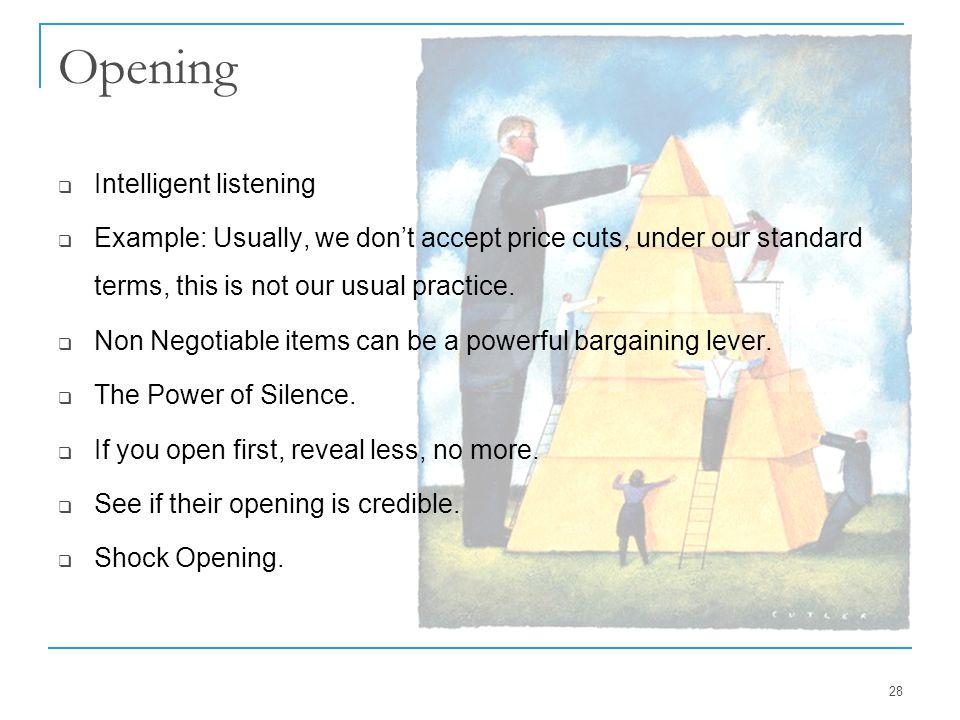Opening Intelligent listening
