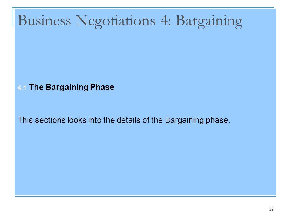 Business Negotiations 4: Bargaining