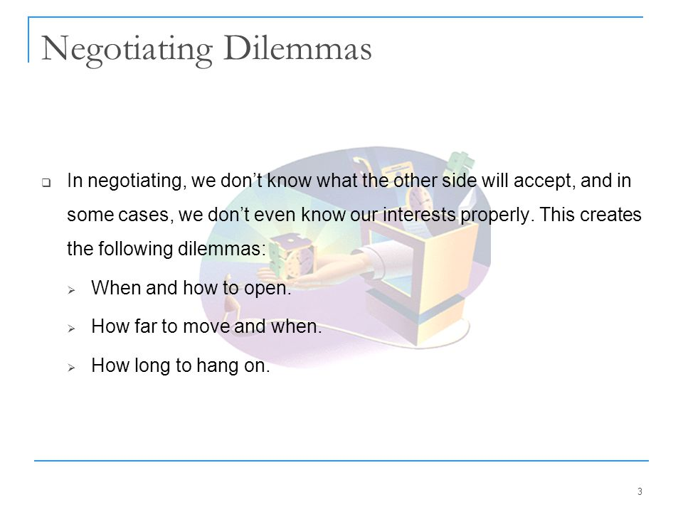 Negotiating Dilemmas