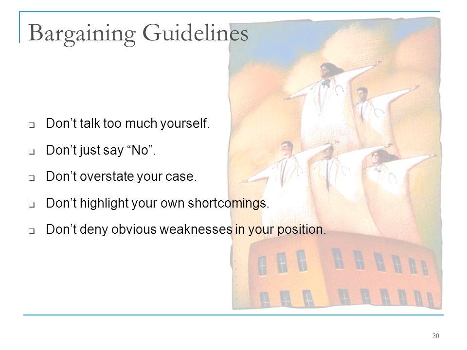 Bargaining Guidelines