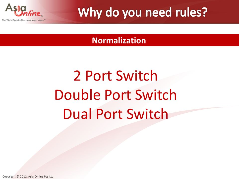 2 Port Switch Double Port Switch Dual Port Switch