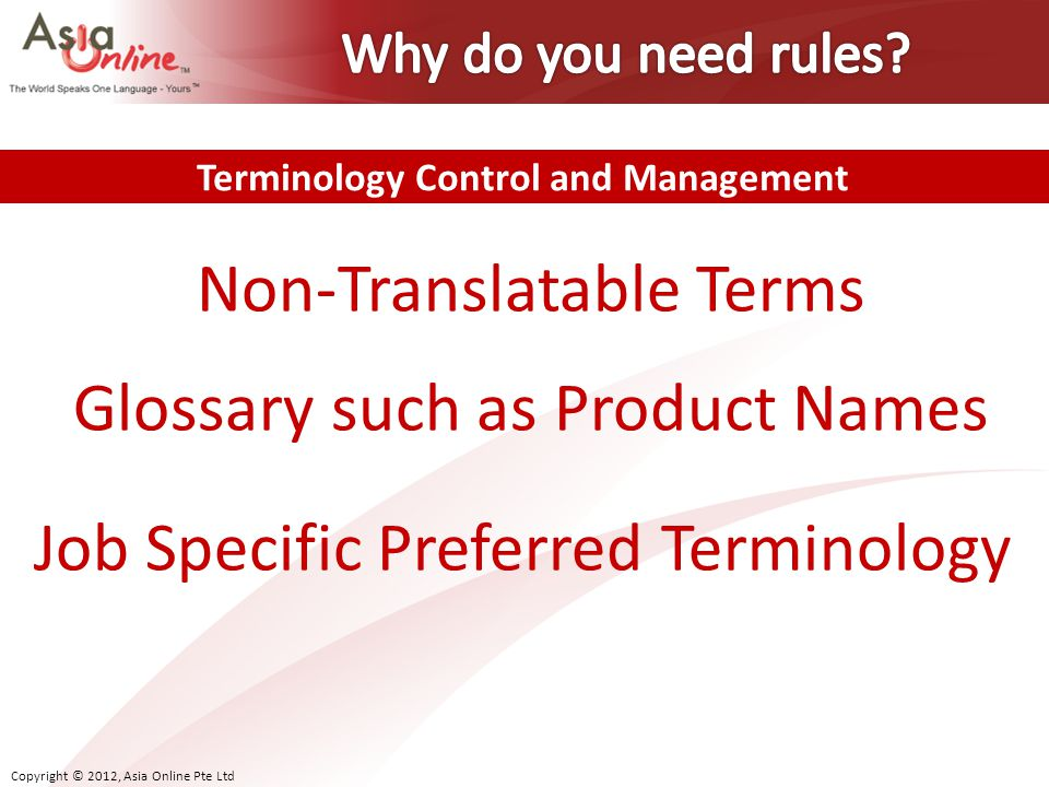 Terminology Control and Management