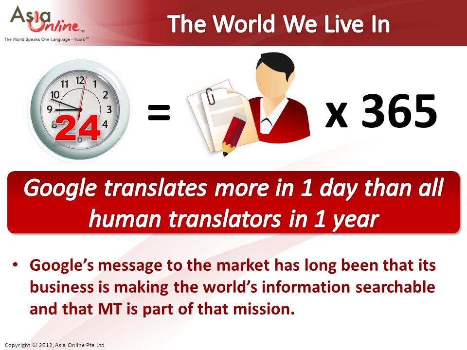 Google translates more in 1 day than all human translators in 1 year