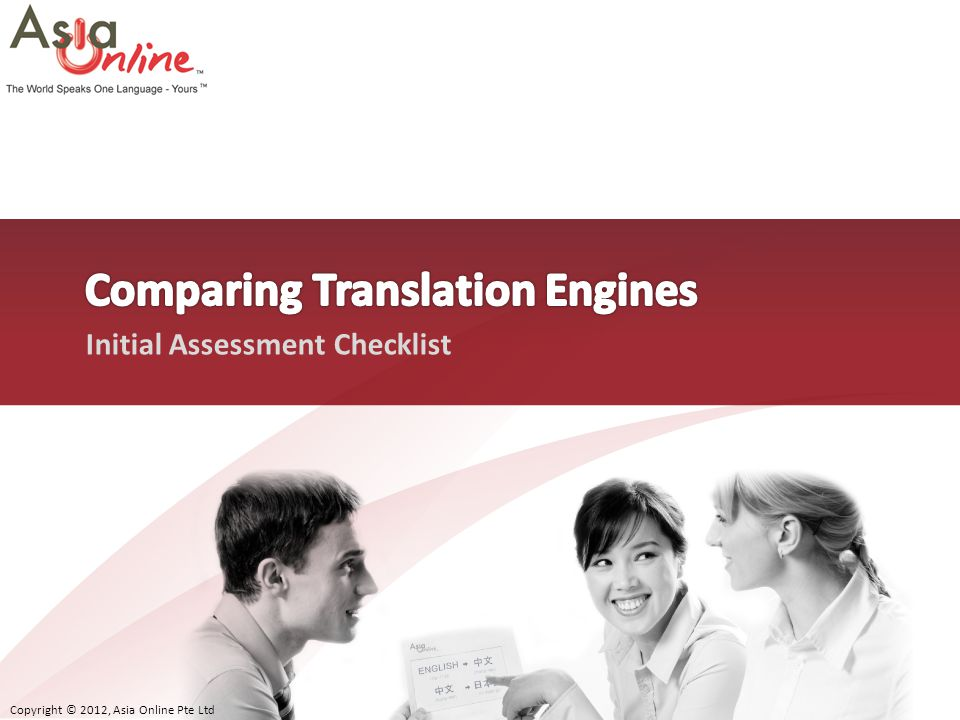 Comparing Translation Engines