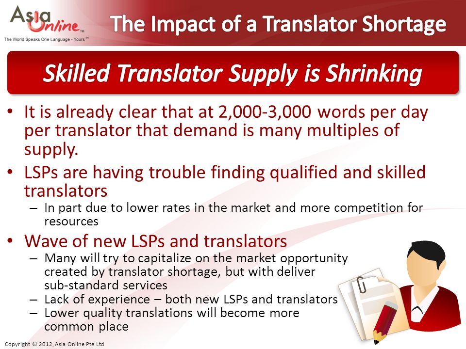 The Impact of a Translator Shortage
