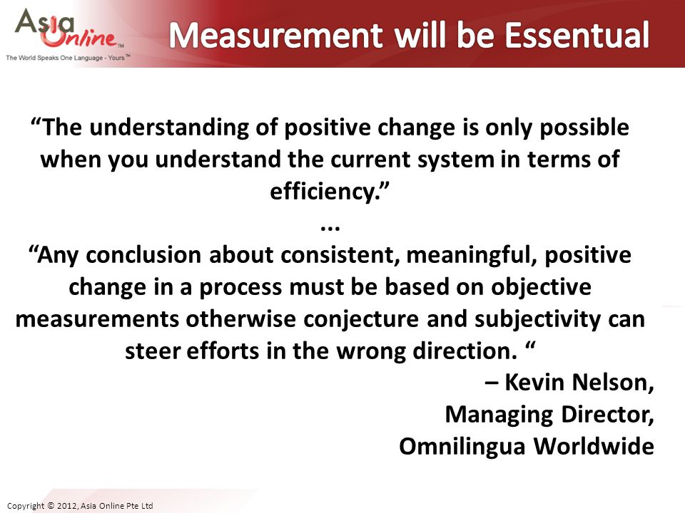 Measurement will be Essentual