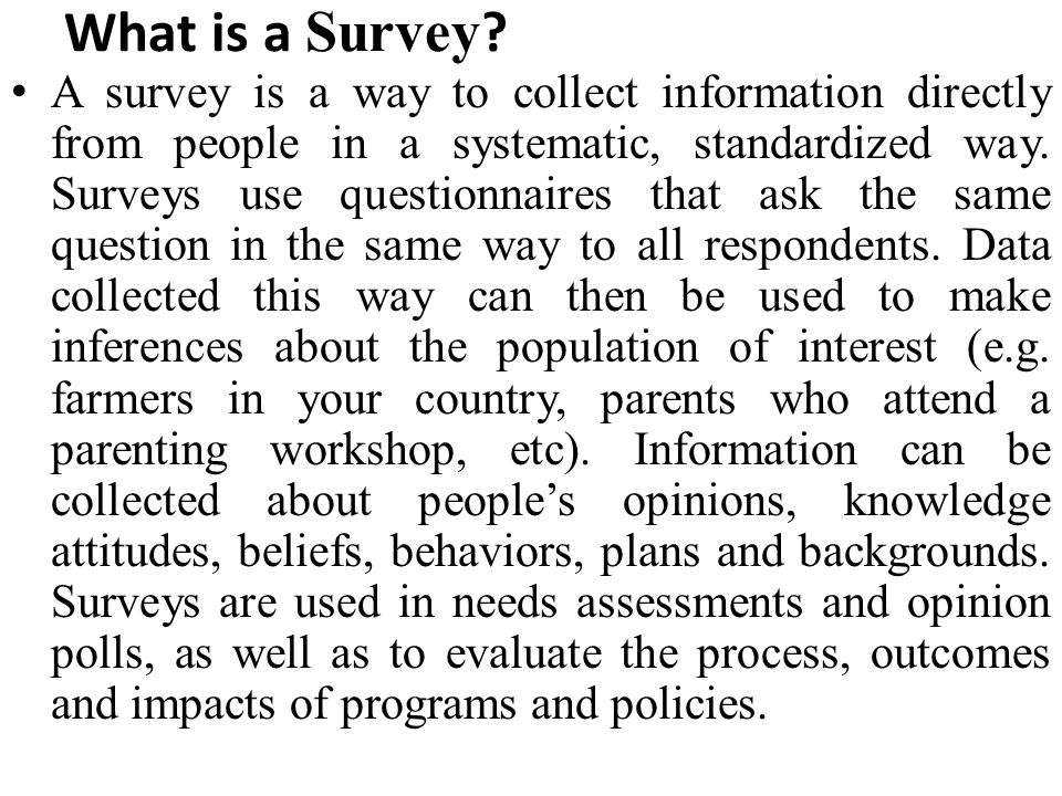 What is a Survey