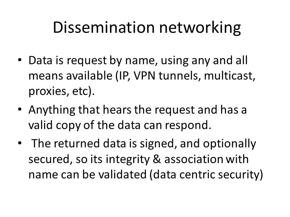 Dissemination networking