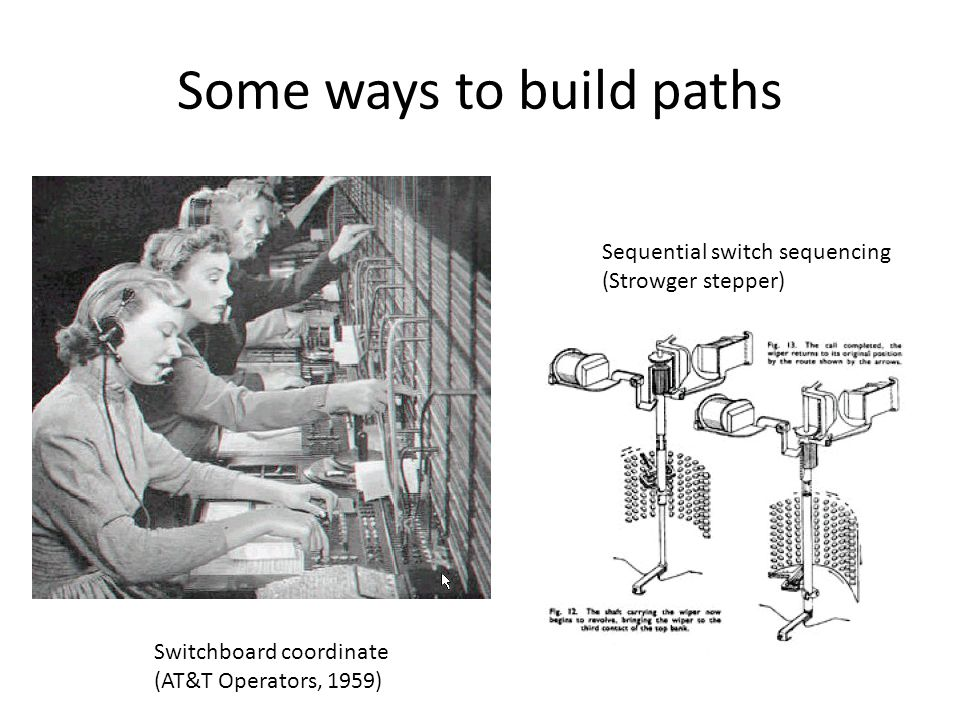 Some ways to build paths