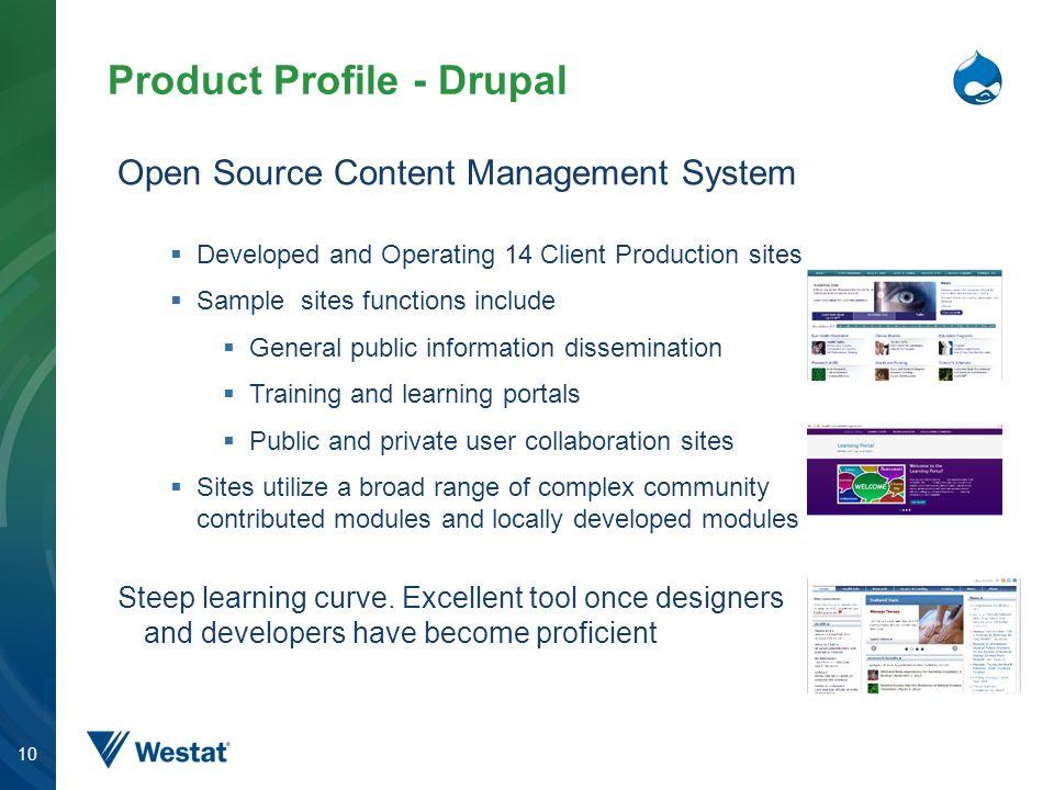 Product Profile - Drupal