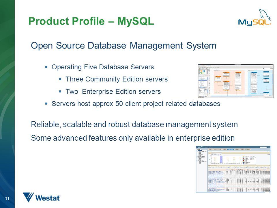 Product Profile – MySQL
