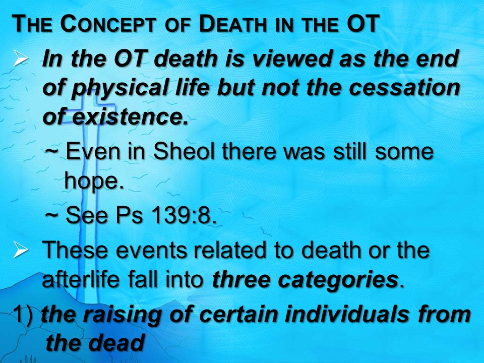 The Concept of Death in the OT