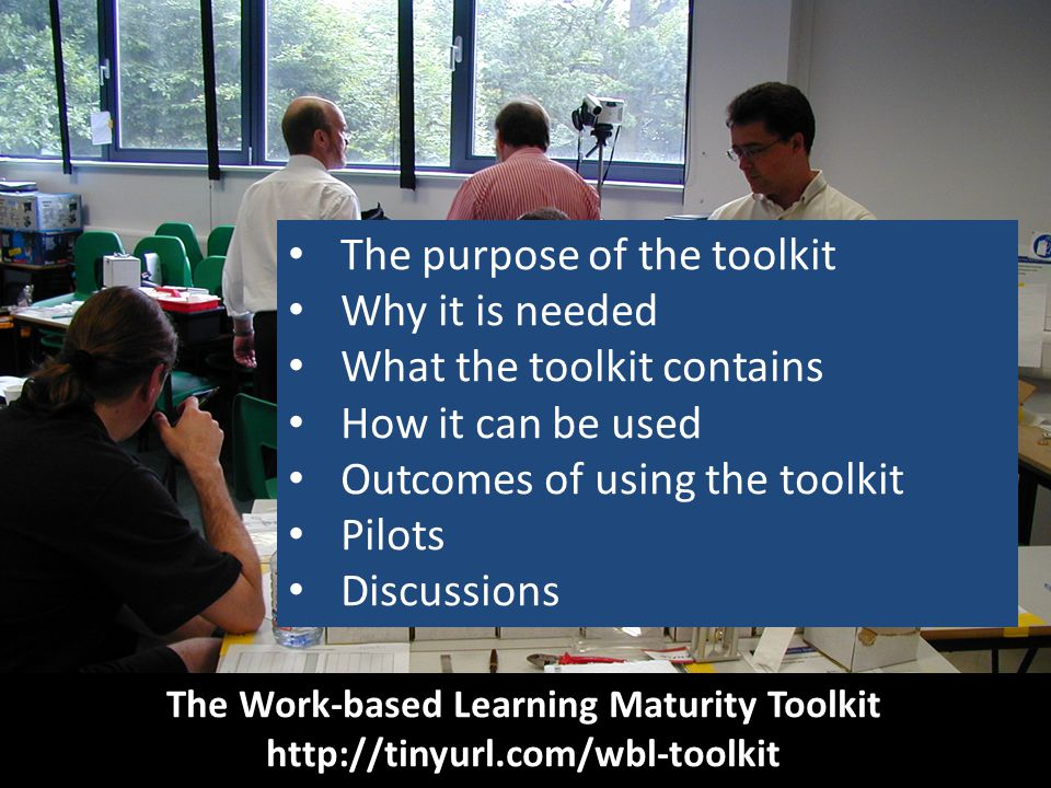 The Work-based Learning Maturity Toolkit