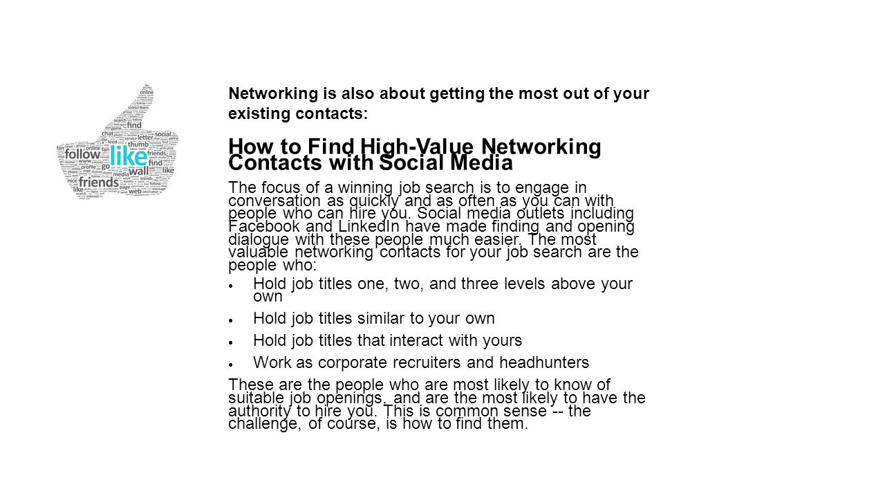 How to Find High-Value Networking Contacts with Social Media