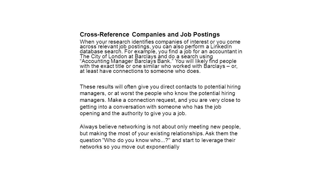 Cross-Reference Companies and Job Postings