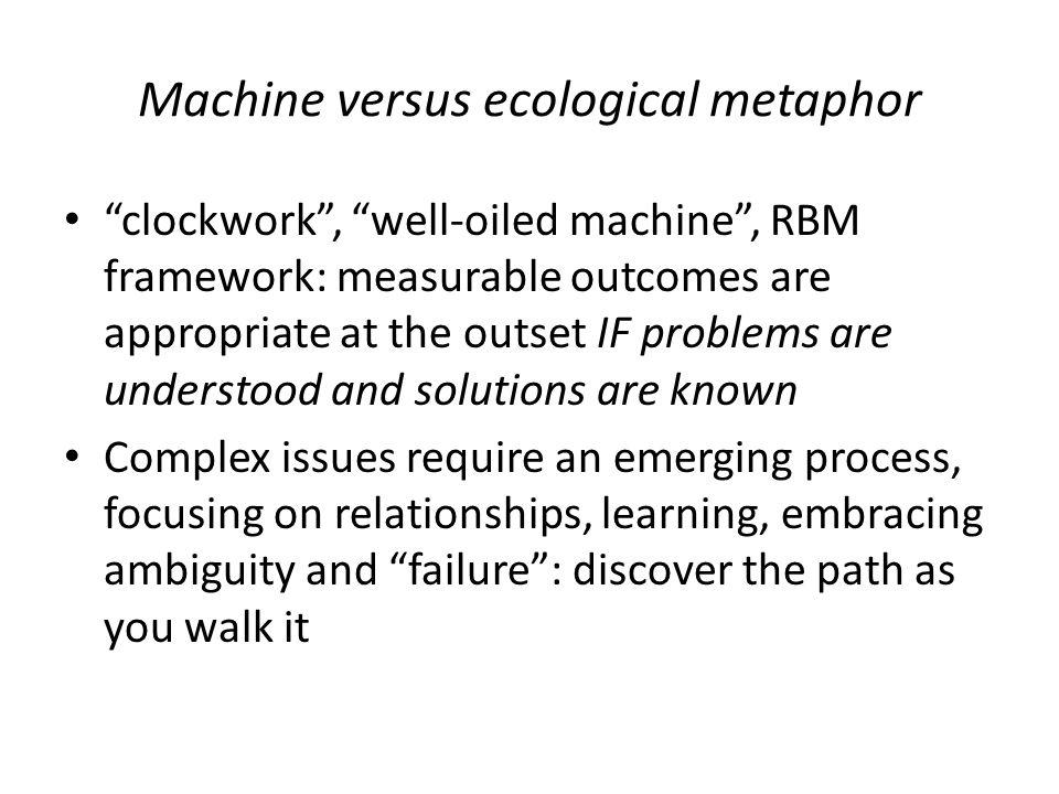 Machine versus ecological metaphor