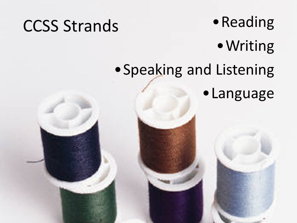 CCSS Strands Reading Writing Speaking and Listening Language Reading