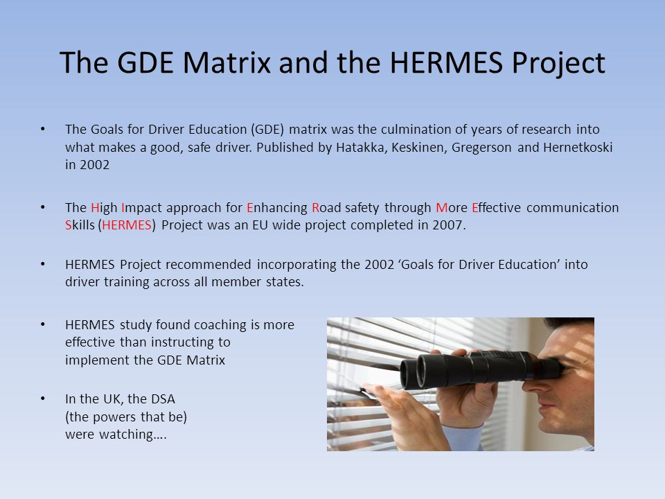 The GDE Matrix and the HERMES Project