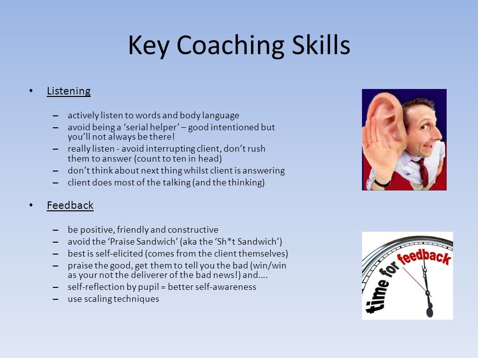 Key Coaching Skills Listening Feedback