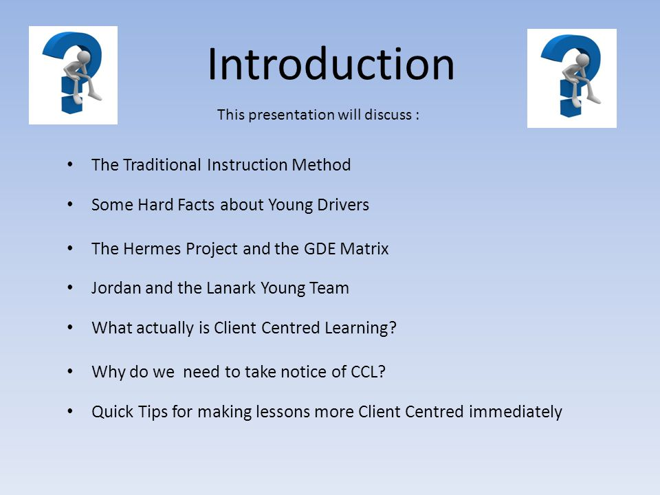 Introduction The Traditional Instruction Method