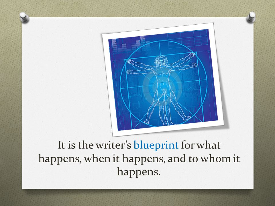 It is the writer's blueprint for what happens, when it happens, and to whom it happens.