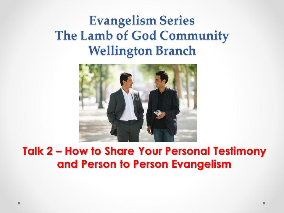 Evangelism Series The Lamb of God Community Wellington Branch