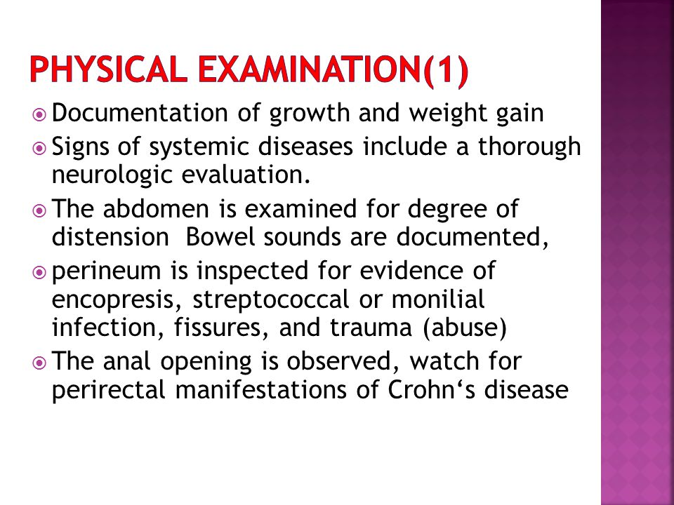 Physical examination(1)